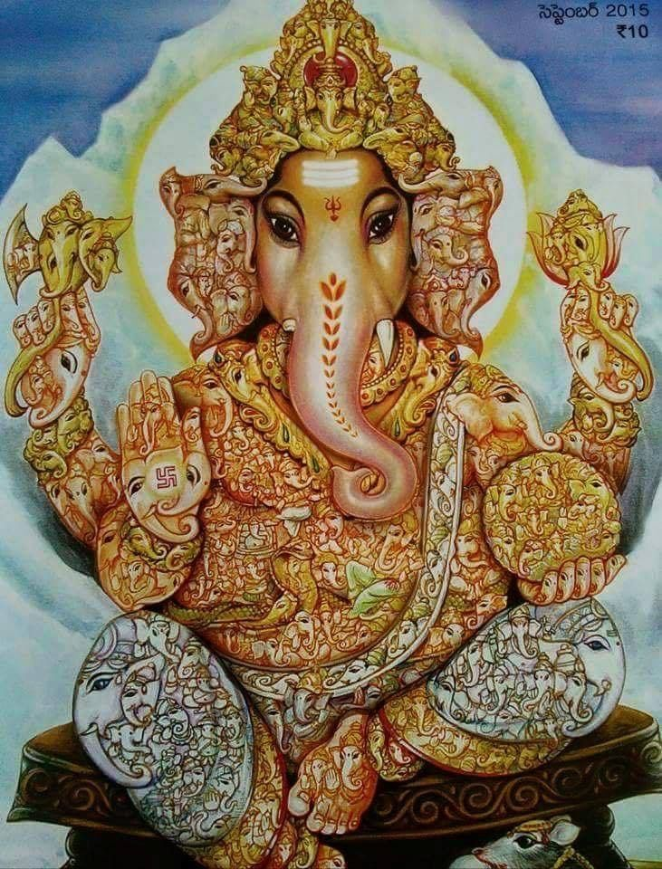 Sri Vinayakar-Zoom this to see 108 Vnayakars inside