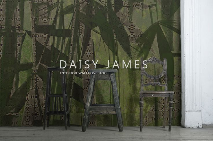 """@Wallpaper """"The Oasis"""" wall covering by DAISY JAMES #interiordesign #Luxuryhouses"""