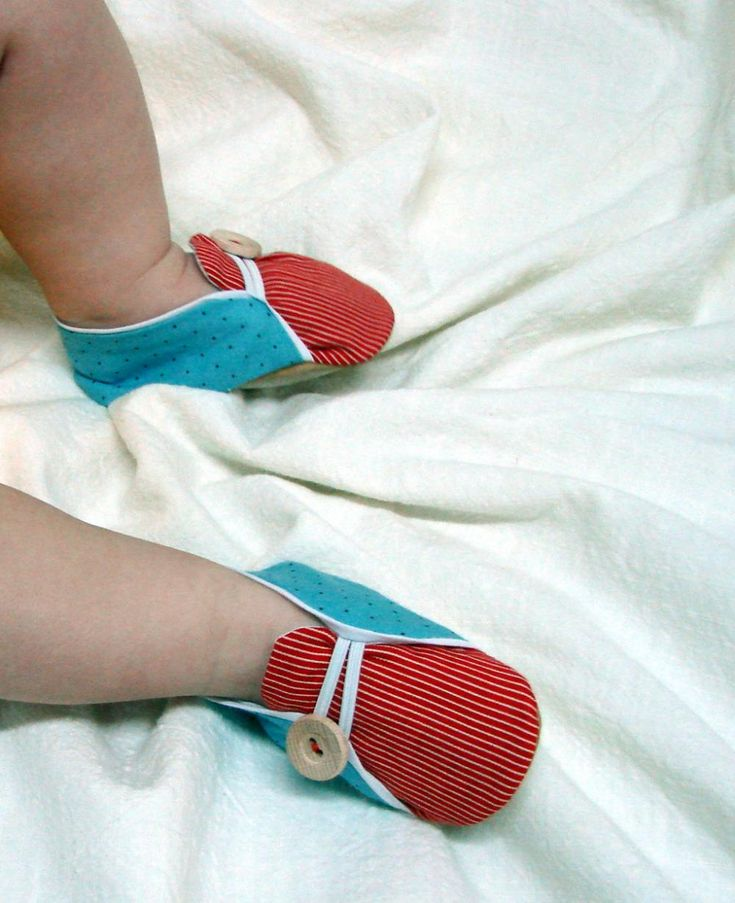 Sailor Baby Shoes sewing pattern - PDF - DIY - Newborn to 24 Months