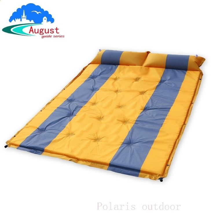 Camping Mats - (62.78$) Buy here - 2 person automatic inflatable cushion inflating mattress moisture-proof cushion beach fishing hiking travel outdoor camping mat