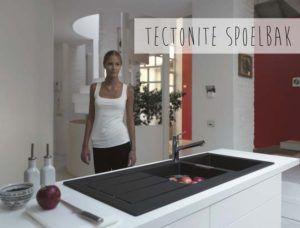 Spoelbakken geven keuken kleur: Tectonite