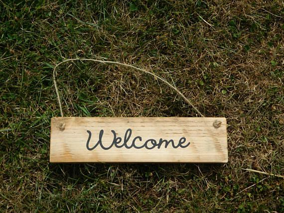 welcome sign wooden signs home decor hanging sign wall