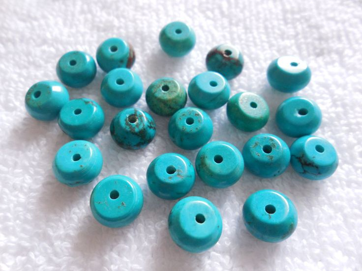 20Psc Natural Turquoise Round Beads,Turquoise Rondelle Beads,Turquoise Smooth plain Beads Size 9MM by InternationalByBeads on Etsy