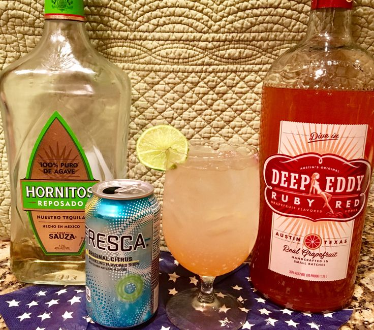 My new favorite skinny cocktail ! The Jitterbug: 4 oz Deep Eddy Grapefruit Vodka 2 oz Hornitos Reposado Tequila 2 oz Fresca Squeeze of lime #skinnycocktail #grapefruitvodka #deepeddy #tequila #Skinnycocktail #fresca