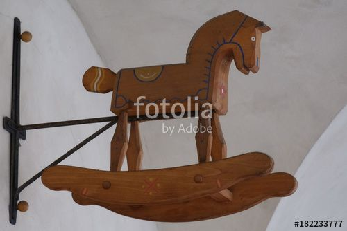 "Download the royalty-free photo ""Rocking horse, toy store symbol, Prague, Czech Republic"" created by yournameonstones at the lowest price on Fotolia.com. Browse our cheap image bank online to find the perfect stock photo for your marketing projects!"