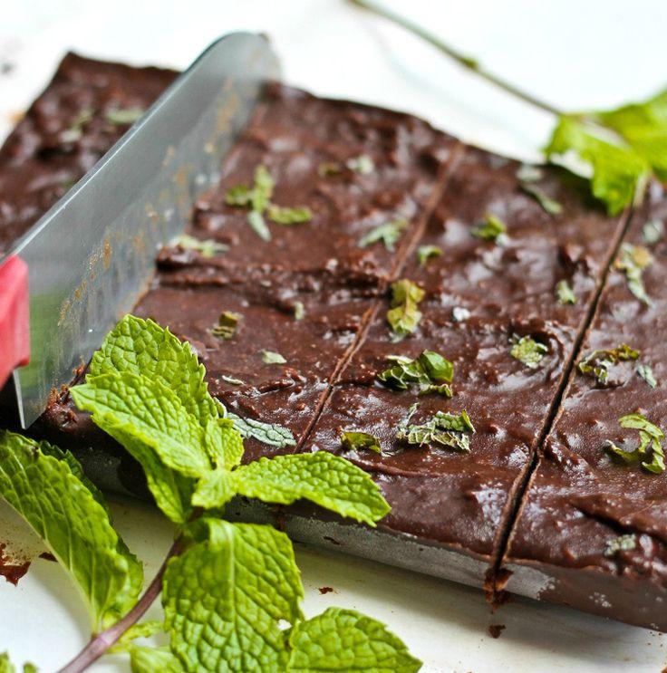 Raw Vegan Thin Mint Fudge