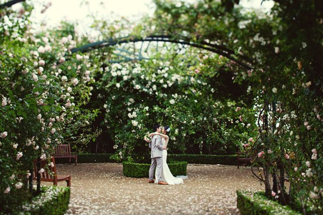 The ever romantic rose arbour, perfect for wedding photos! Location: Morning Star Estate  Photographer: Jonathan Ong  http://jonathanong.com