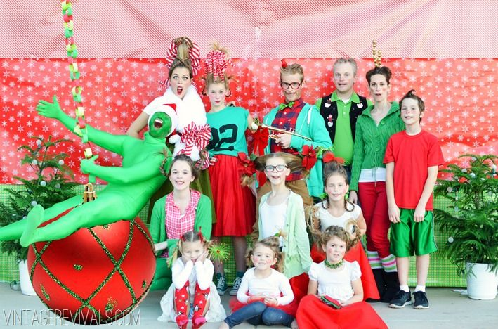 Pretty much the coolest Christmas card photo ever.  How The Grinch Stole Christmas!  Christmas Photo 2013