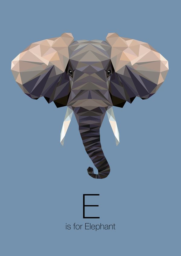 https://www.behance.net/gallery/Animal-Alphabet/12169985 e is for elephant