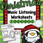 FREE Christmas Music Listening Worksheets