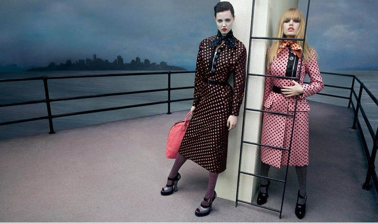 Lindsey Wixson, Emily DiDonato, Daphne Groeneveld, Georgia May Jagger, Adriana Lima, Marina Nery, Hind Sahli, Katlin Aas & Anne Verhallen for Miu Miu Fall/Winter 2013/2014 Campaign