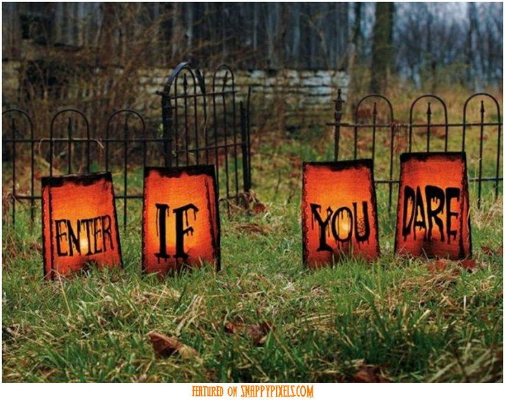Diy halloween decorations diy scary halloween for Pinterest halloween outdoor decorations