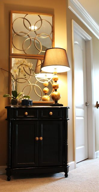 Gold Foyer Mirror : Best images about small entryway tables on pinterest