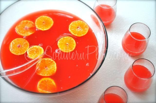 Simple Party Punch (Can be made sugar free!) - southernplate.com