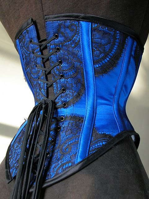 Lovesick Corsets - Love the shade of blue!! www.pinterest.com/wholoves/corsets #corsets