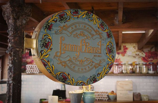 signage for Fanny Chanel (at Schoon De Companje)