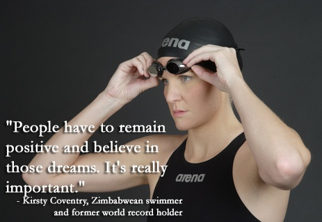 #Swimming legend Kirsty Coventry, Zimbabwean swimmer and former world record holder