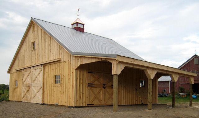 Small horse barns horse barn kits one stall two stall for 3 stall horse barn plans