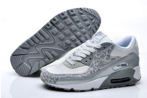 commercio all'ingrosso Nike air max 90 donna leopardo pacchetto scarpe sportive grigie bianche online prezzi bassi