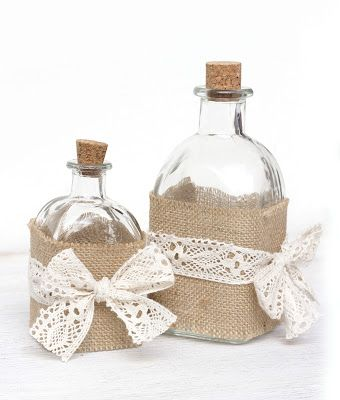 Decorate bottle in shabby chic DIY
