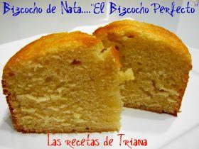 """Hace unas semanas vimos como Maria de """"Recetines Asgaya""""  publicaba en su blog  este bizcocho de nata, que ella bautizo como """"El bizcocho p..."""
