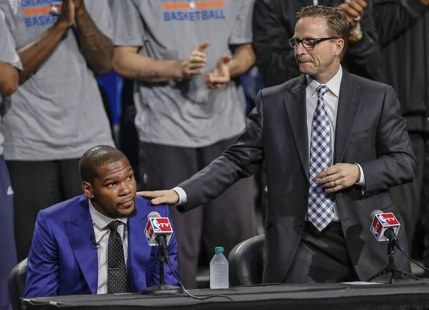 Kevin Durant thanks Scott Brooks, but says he supports firing 100 percent.
