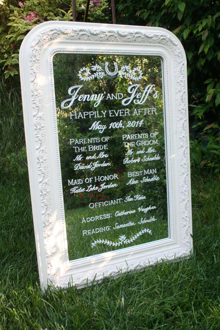 ガーデンウェディングなら鏡に映るグリーンが美しい♡ナチュラルな結婚式♡グリーンのウェルカムボードまとめ一覧♡