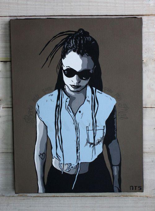 Amor - tinta acrilica, 30x40cm