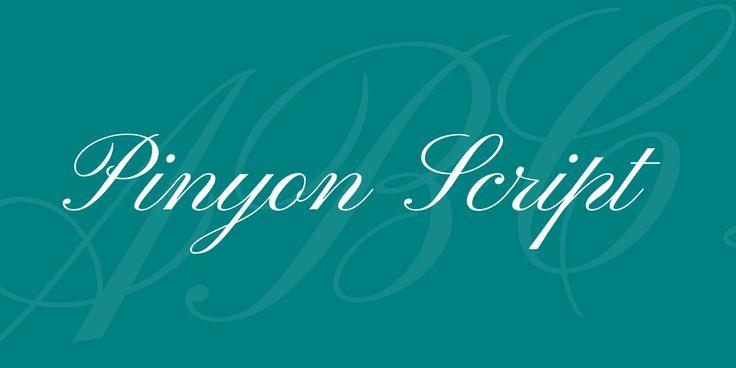 Pinyon Script Font · 1001 Fonts