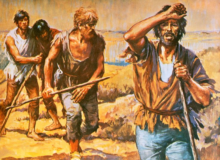 Survivors of Narváez's Expedition up the Mississippi