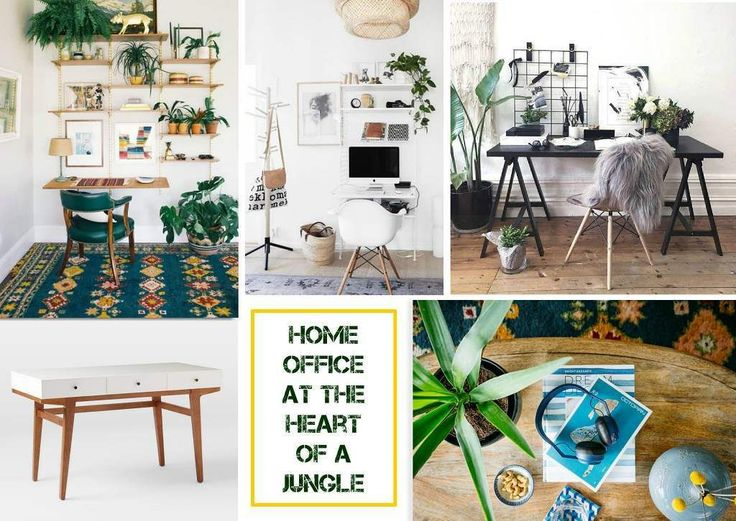 Home office at the heart of a jungle  @sampleboard.inspo