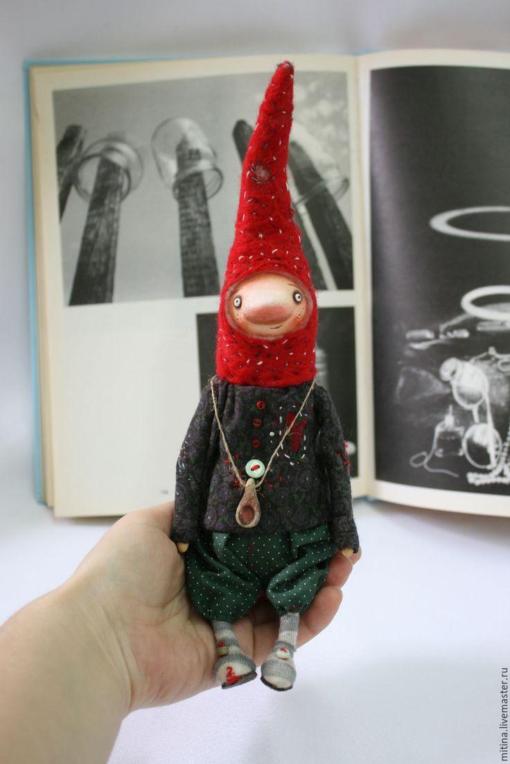 Купить Гномы весенние - комбинированный, гномы, авторская кукла, деревенский стиль, Паперклей, проволока, текститль