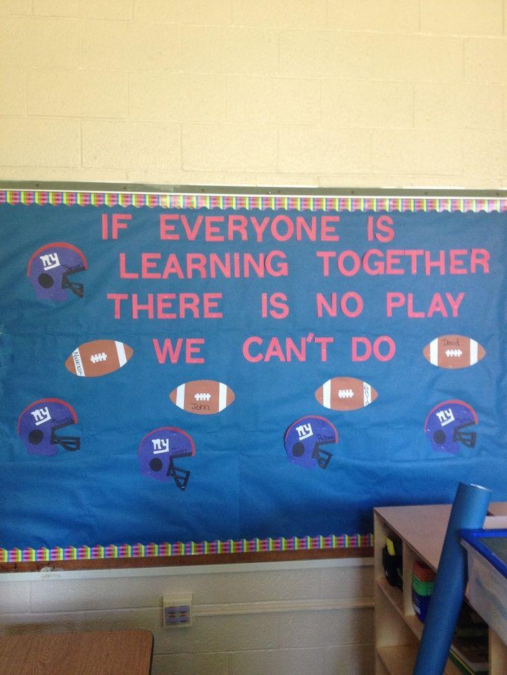 Football Themed Classroom Decorations | Football theme board :) | Classroom Decorations, Ideas and Tips