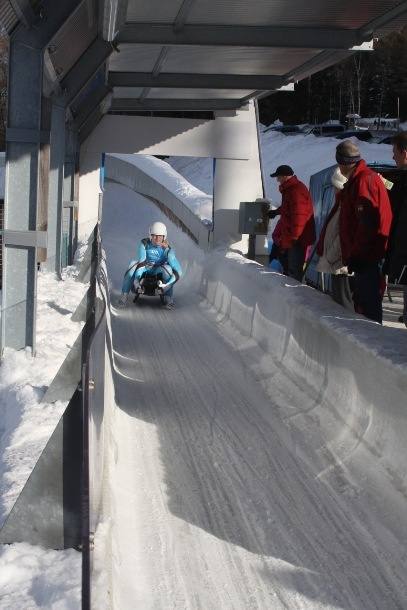 Tuesday luge at the Olympic Sliding Centre in the village of Igls, situated just up the road from Innsbruck. (ATR)