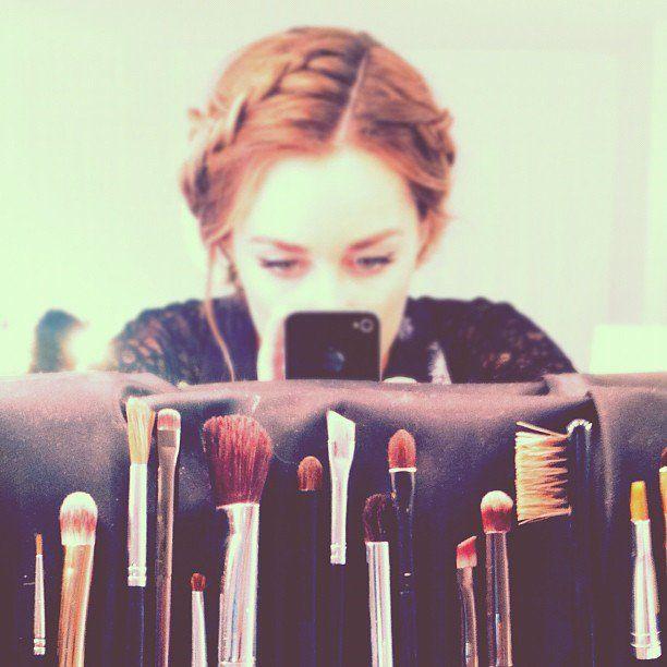 Pin for Later: Dites cheeeeeese ! Les meilleurs selfies des stars sont ici !  Lauren Conrad en août 2012 dans un atelier de maquillage. Source: Instagram user laurenconrad