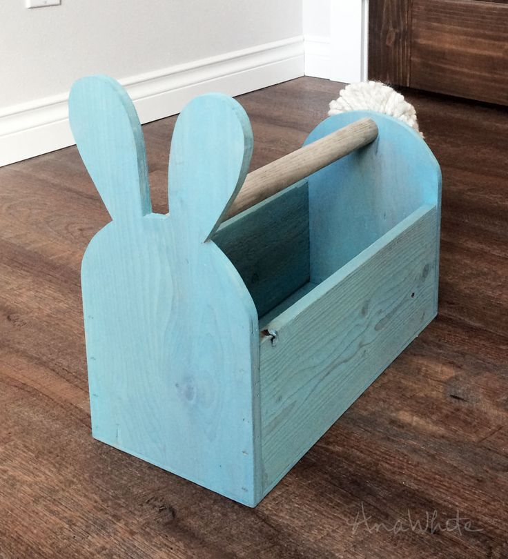 Build a Wood Easter Basket Bunny Shaped Trug | Free and Easy DIY Project and Furniture Plans