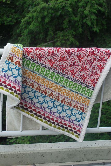 Baby Blanket Latvian Garden  Ravelry: MrsSophie's hønsestrikk (März)
