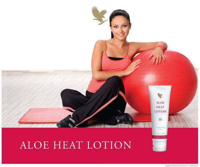 Use aloe Vera heat lotion on joints or muscles after hard training or sports.