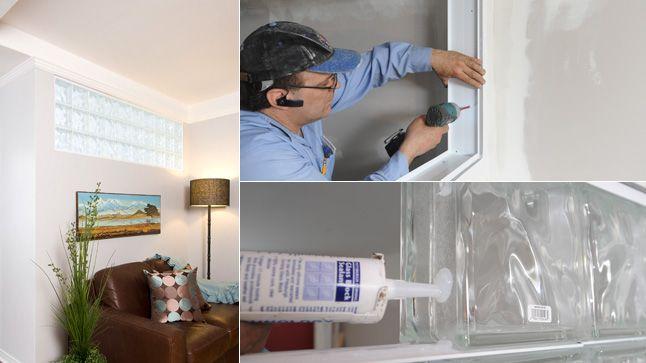 Tout en préservant l'intégrité d'une cloison, l'insertion de blocs de verre dans un mur séparateur apporte de la lumière naturelle à la pièce.