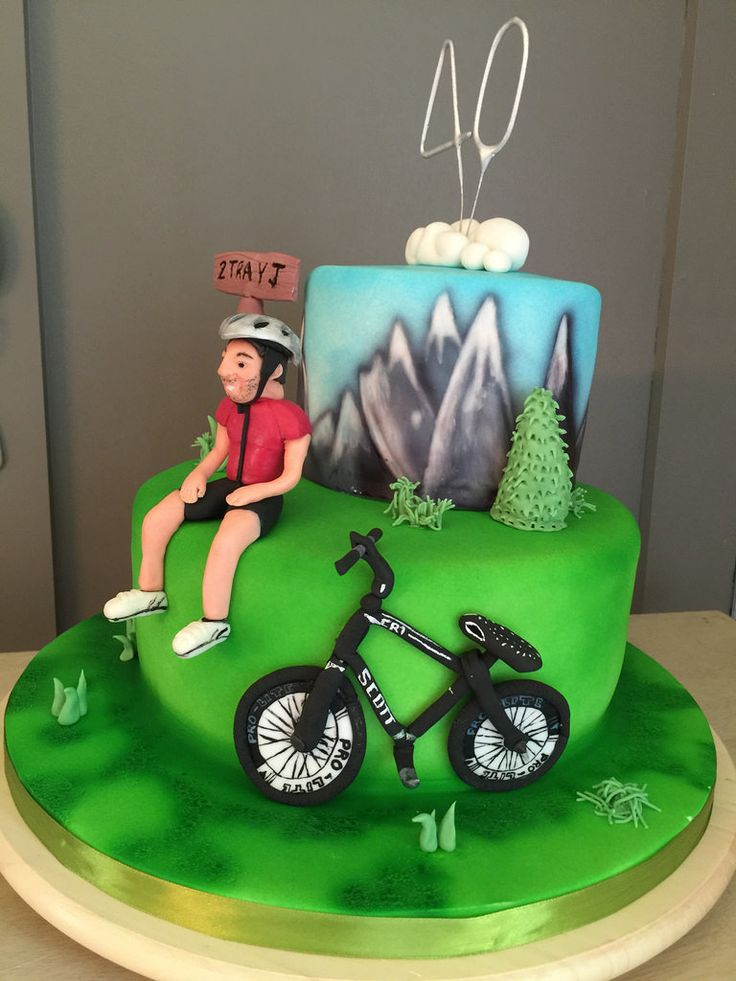 13 Best Cycling Cakes Images On Pinterest Bicycle Cake Birthdays