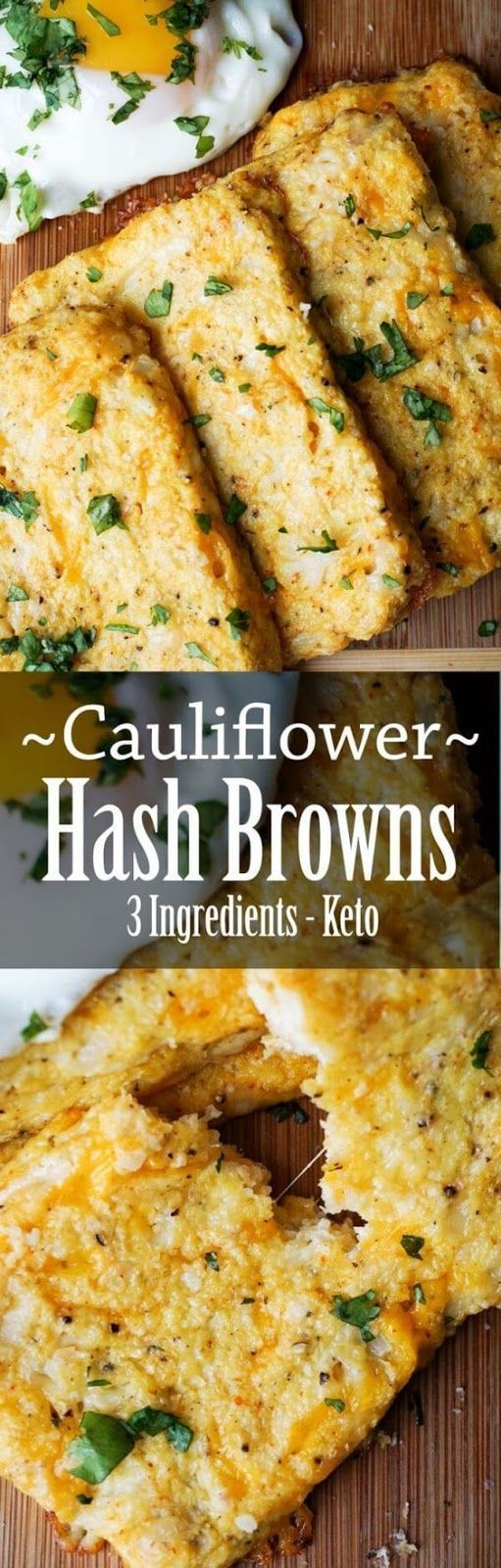 Cauliflower Hash Browns bursting with cheese  – Low Carb Cooking – #Browns #burs…