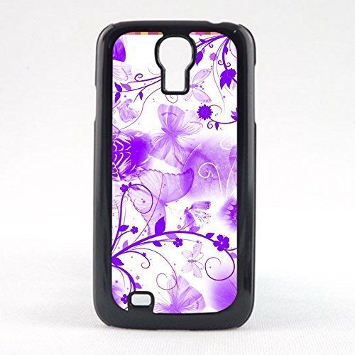 #Case Fun Case Fun Purple Butterflies Snap-on Hard Back Case Cover for Samsun Galaxy S4 Mini (I9190)