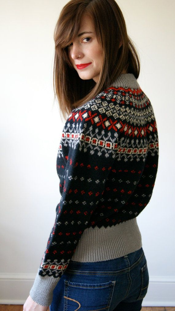 50s Nordic Sweater Vintage Abercrombie and by NewOldFashionVintage, $75.00