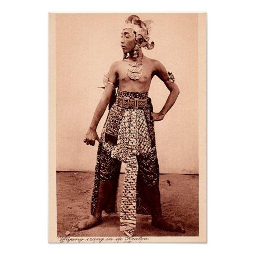 Javanese Dancer, Jakarta Indonesia circa 1910 Posters