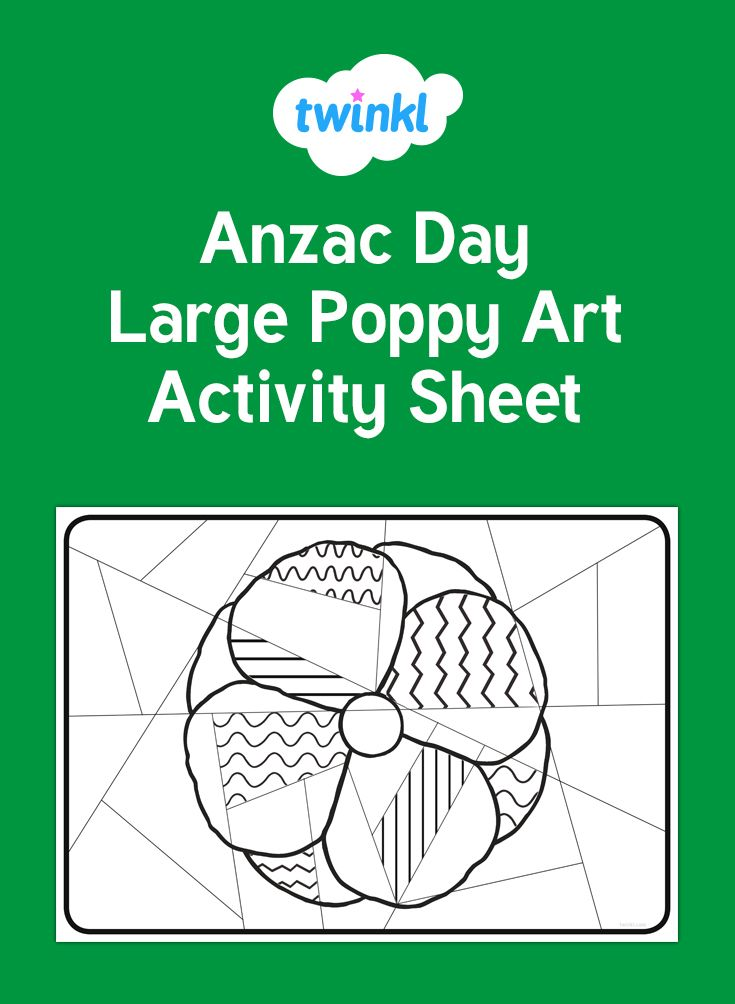 A useful art activity to get the whole class involved with ANZAC Day.