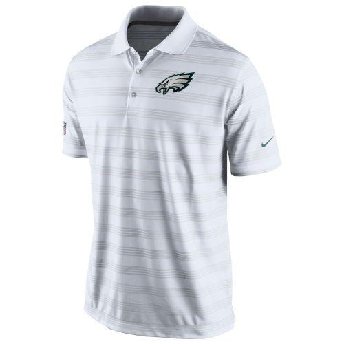 Mens Nike White Philadelphia Eagles Preseason Performance Polo