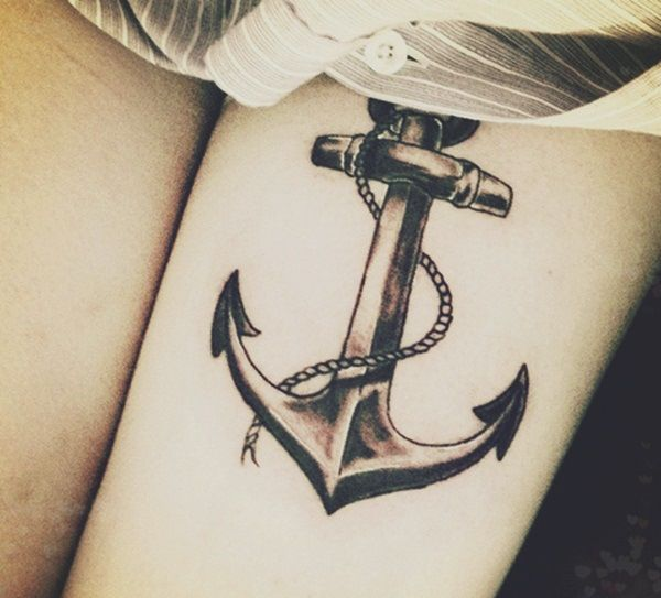 """#Anchor Old School Merchant Marine/Sailor #Tattoo --> A sailor would get the Anchor tattooed if he was a Merchant Marine or possibly had crossed the Atlantic Ocean. The anchor is what keeps the ship attached to the bottom of the sea, and so they were considered a symbol of faith that is stable and unwavering. Sometimes the word """"Dad"""" or """"Mom"""" was added to make this more significant."""