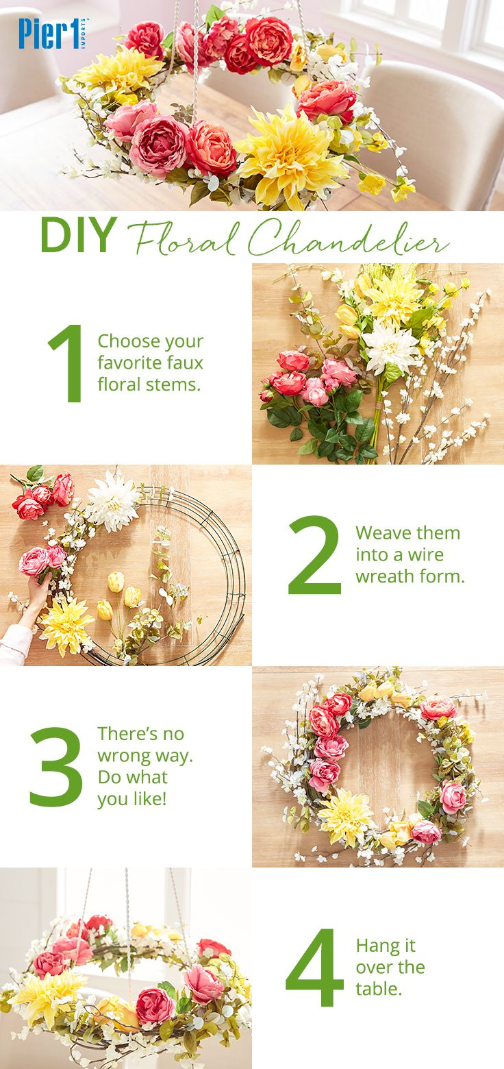 """When everyone at your table asks you where you found your beautiful hanging centerpiece, you get to say, """"Oh that? I made it myself!"""" Click the picture for more Easter ideas and inspiration from Pier 1."""