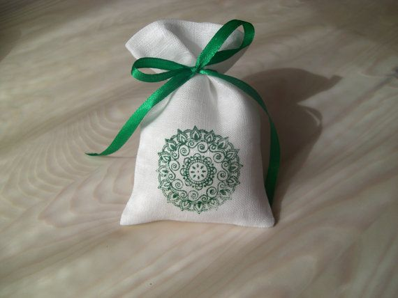 Set of 10 Natural Linen Small Bags For Gift by BoutiqueSweetFloret
