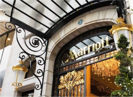 Marriott Champs Elysees!  I can't believe we're staying here!!!